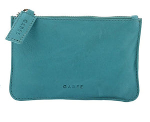 GABEE BAGS LEATHER VILLAGE LEATHER COIN PURSE - Turquoise