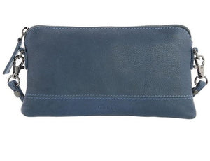 GABEE BAGS LEATHER KARA - Denim