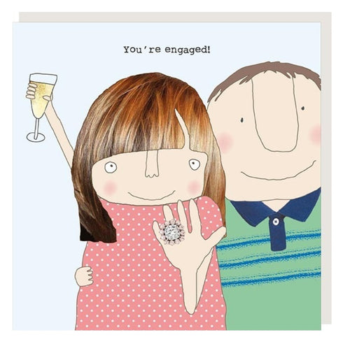 ROSIE MADE A THING GREETING CARD - YOU'RE ENGAGED