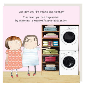 ROSIE MADE A THING GREETING CARD - WASHER/DRYER SITUATION