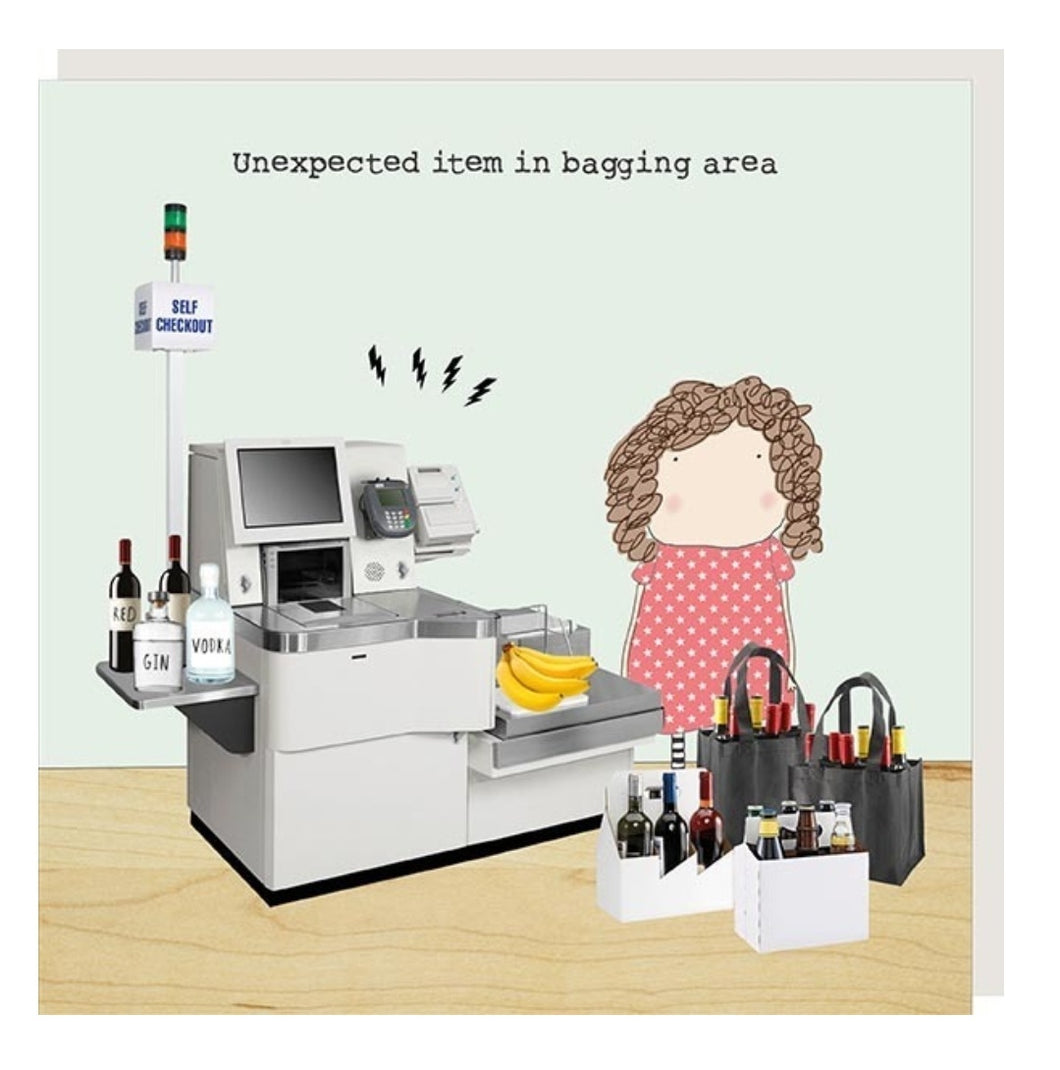 ROSIE MADE A THING GREETING CARD - UNEXPECTED ITEM IN BAGGING AREA