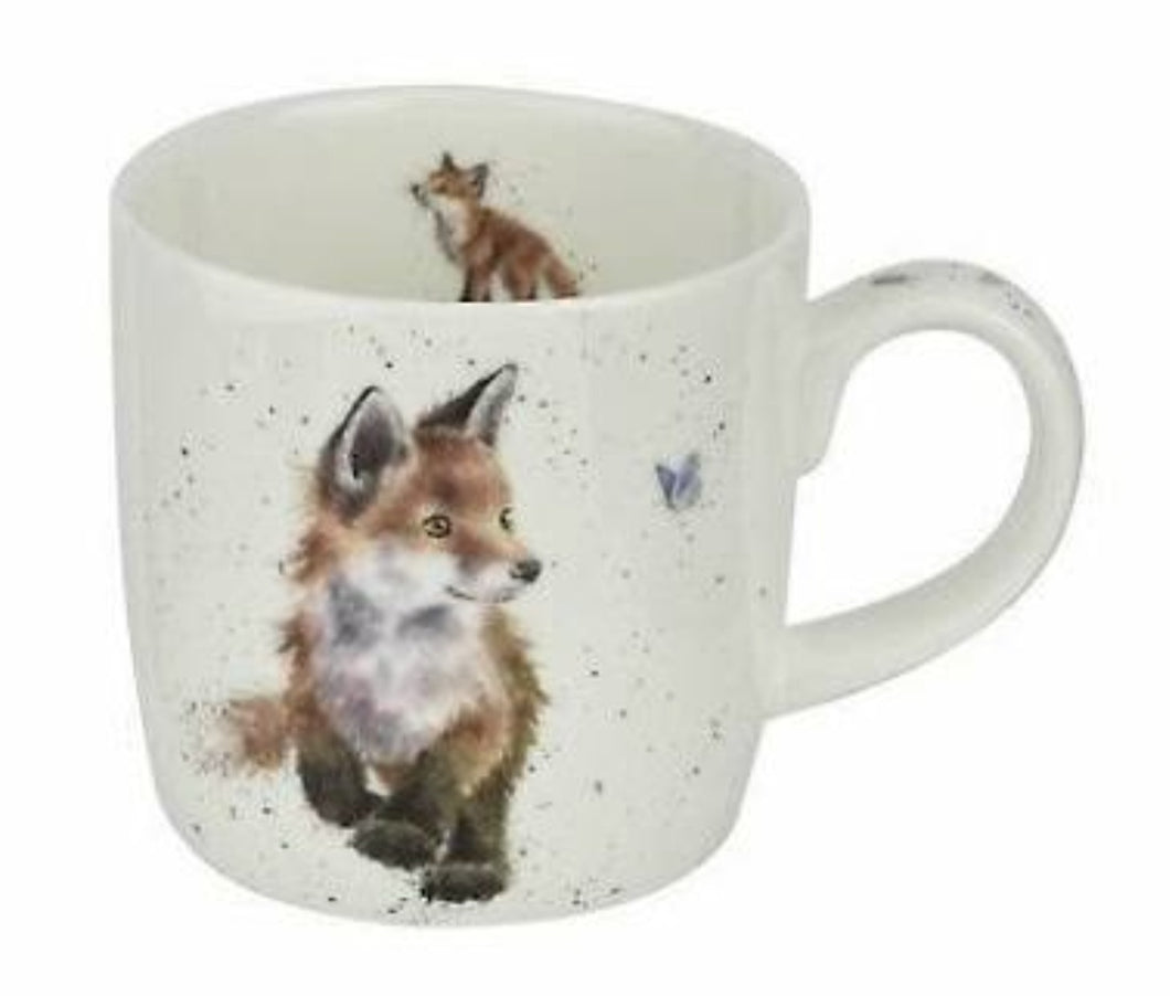 ROYAL WORCESTER WRENDALE MUG - BORN TO BE WILD FOX