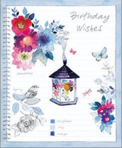 BIRTHDAY CARD - BIRDS AND FLOWERS