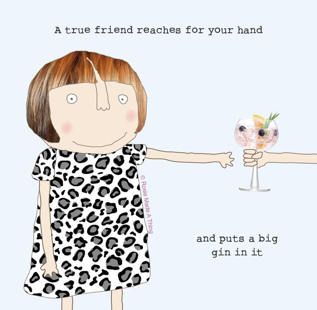 ROSIE MADE A THING CARD - PUT A BIG GIN IN IT