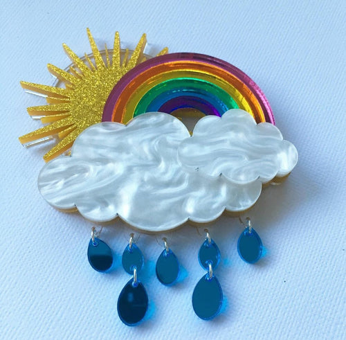 MARY BOBBIN - ZANADU RAINBOW BROOCH