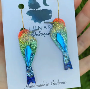 LUNAR DEESIGNS EARRINGS - BEE EATER HOOPS