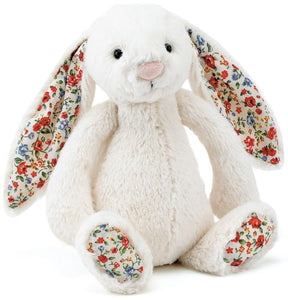 JELLYCAT BASHFUL BUNNY - CREAM BLOSSOM MEDIUM
