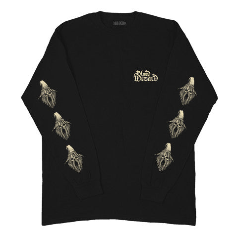 Sleave of WIZARD L/S T shirt - Black