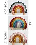Load image into Gallery viewer, Doll Size Rivie Rainbow Bonnet