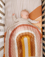 Load image into Gallery viewer, Juni Bobble Rainbow Blanket