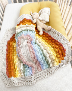 CUSTOM Juni Bobble Rainbow Blanket