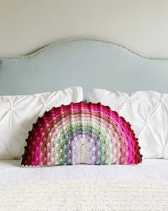 Juni Bobble Rainbow Pillow — Custom Double