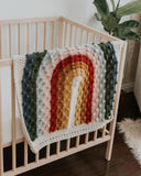 Juni Bobble Rainbow Blanket