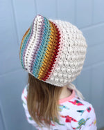 Load image into Gallery viewer, Birdie Rainbow Pixie Bonnet