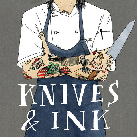 Knives & Ink Curates Culinary Tattoos and the Stories Behind Them book cover