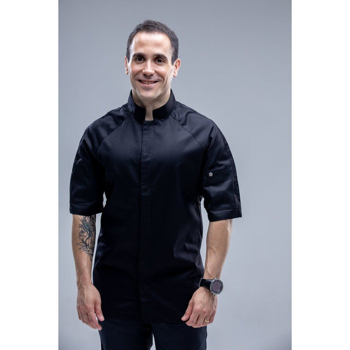 Chefskillshk OCAINAS Short Sleeves Men's Chef Jacket with square mandarin collar 88US$