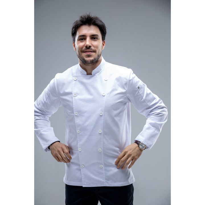 CAHITA Essential White Chef Coat Long Sleeves - Chef Skills Hk