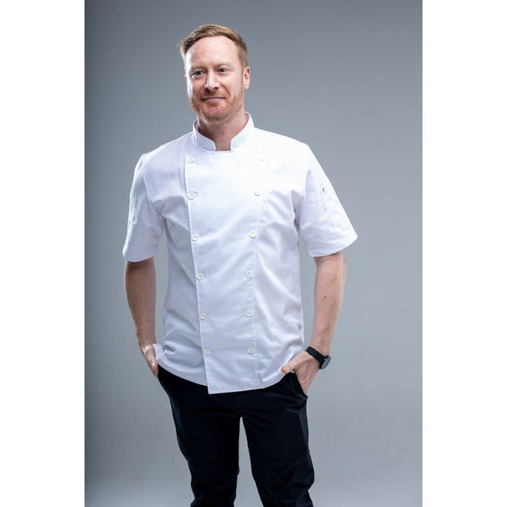 CAHITA Essential White Chef Coat Short Sleeves - Chef Skills Hk