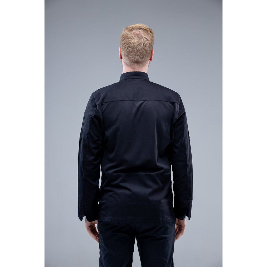 ChefSkillsHK Calusa Men's Chef Jacket Black for HK restaurant 49USD