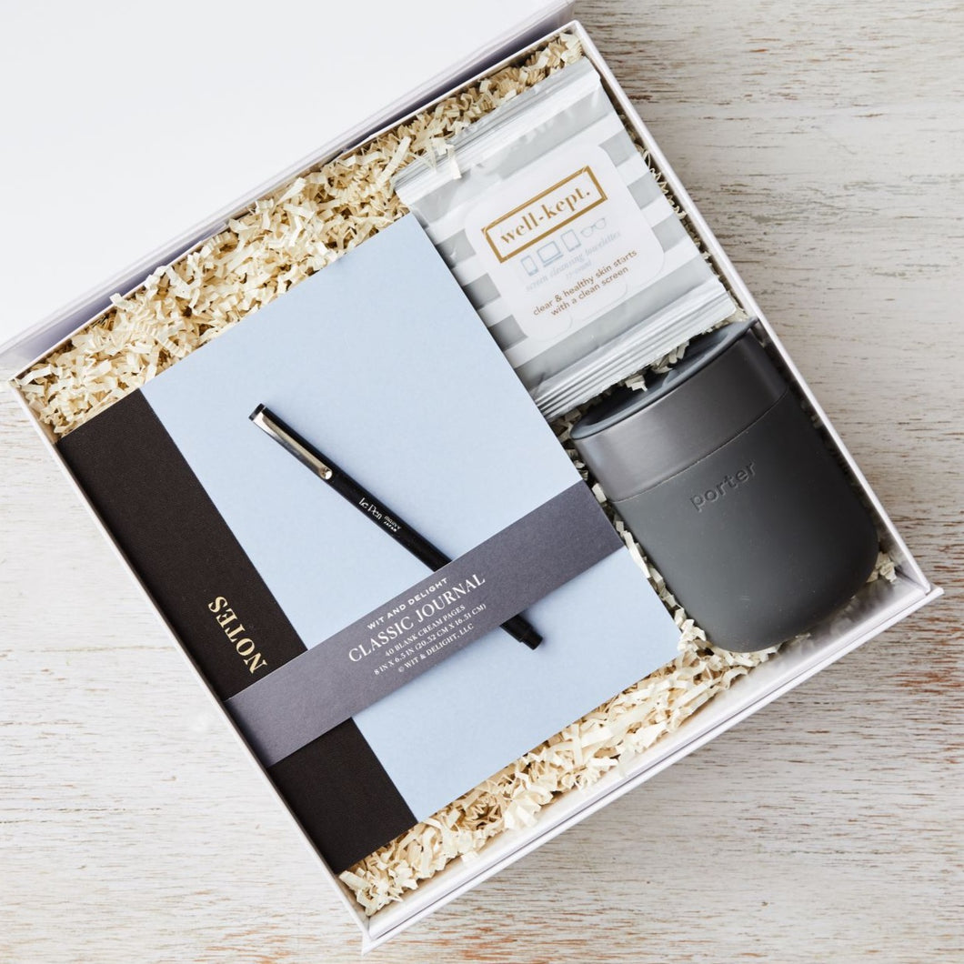 curated_gift_box_desk_notebook_coffee_insulated_tumbler_screen_wipes