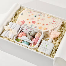 Load image into Gallery viewer, curated_baby_girl__gift_box_bath_toys_towel_wash_2