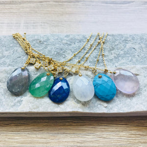 Collier Alma Labradorite Or