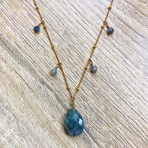 Collier Bahia Labradorite Or
