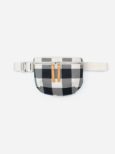 Waist Pouch Canvas Black Check