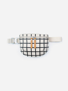 Waist Pouch Canvas Black Grid