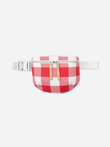 Waist Pouch Canvas Red Check