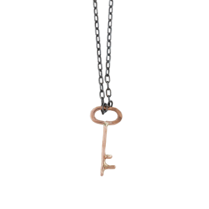 Mixed Metal Key Necklace