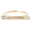 Diamond Bar Stacking Ring