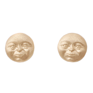 Invisible Moon Face Studs