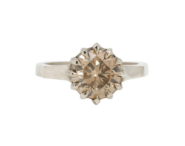 CHAMPAGNE BRILLIANCE SOLITAIRE RING