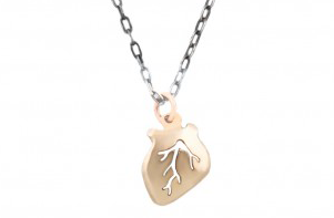Heart Charm Necklace Valentines Day Gift Presents