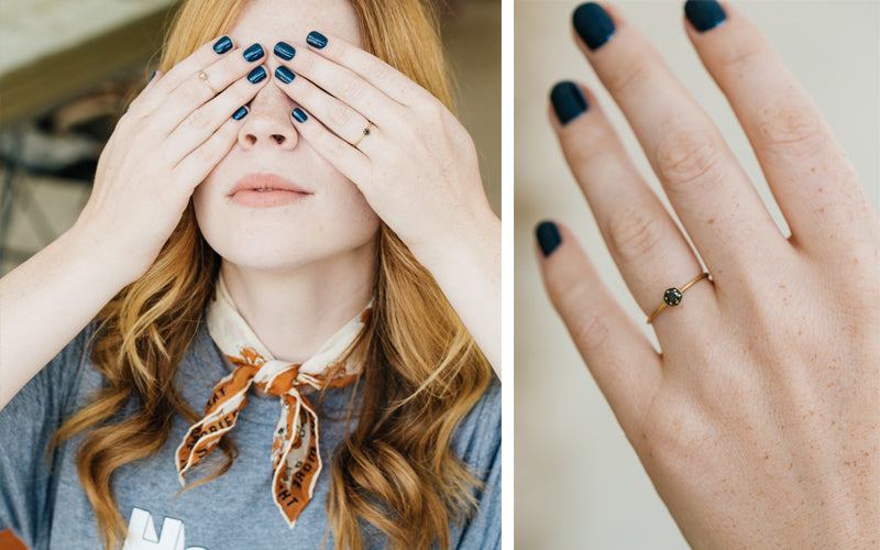 Satomi Kawakita Black Diamond Ring Giveaway with Courtney Halverson of Pretty Little Fawn for ESQUELETO Los Angeles
