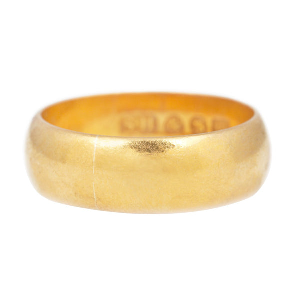 Vintage Extra Wide Gold Band