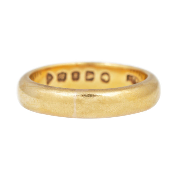 Vintage Domed Gold Band