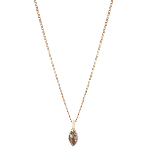 Gold Morganite Marquise Necklace