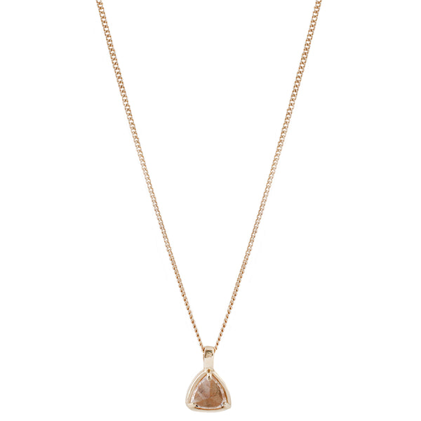 Gold Morganite Trillion Necklace