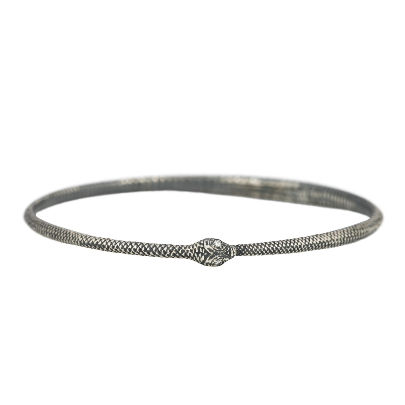 Anthony Lent Silver Ouroboros Bangle