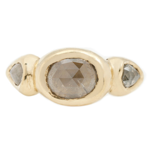 Lauren Wolf Jewelry Firelight Diamond Signet Ring