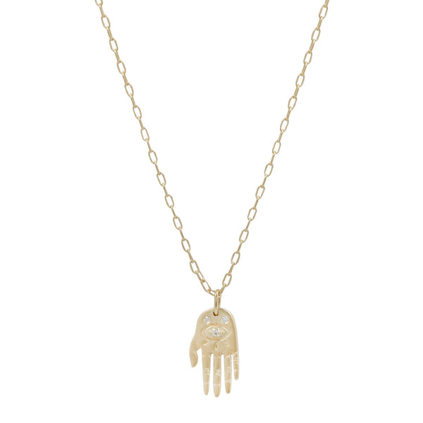 Celine D'Aoust Small Dharma Hand Necklace