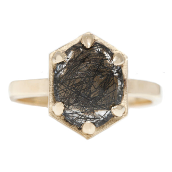 Hexagon Quartz Ring