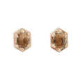 Lauren Wolf Jewelry Hexagon Champagne Studs