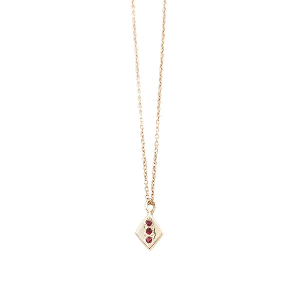 Ruby Rhombus Necklace