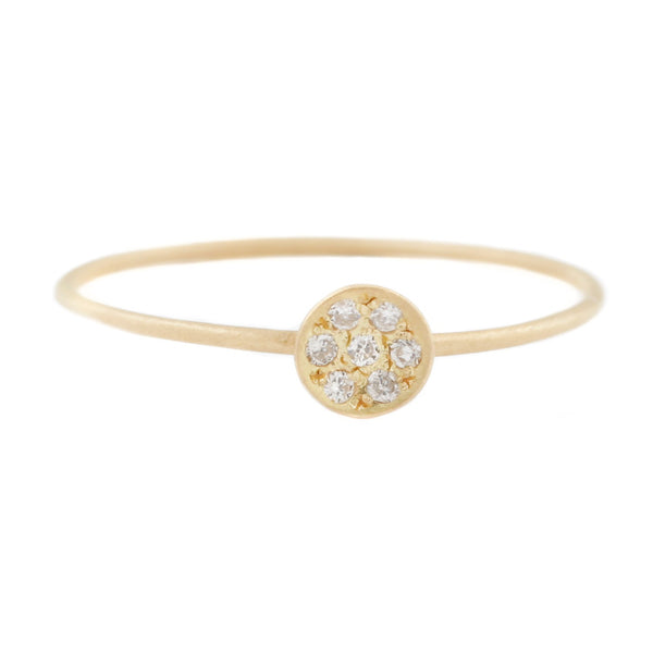 Aili Gold Starry Night Ring with white diamonds