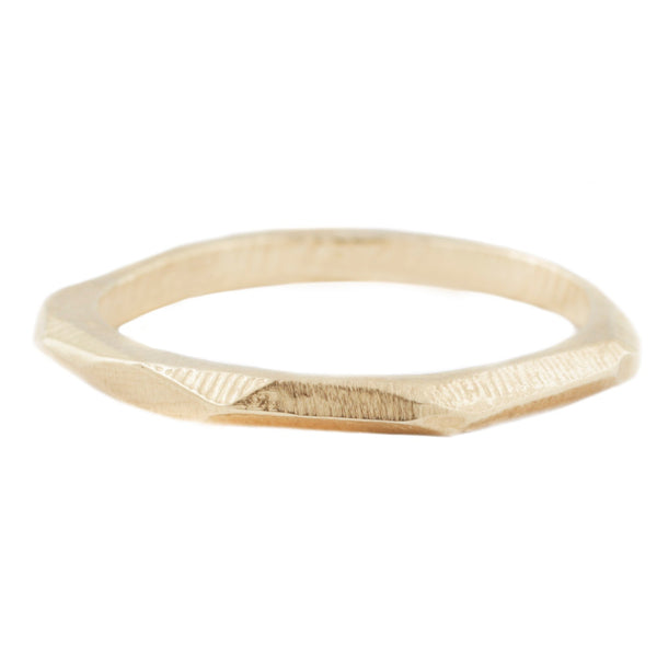 Adeline Gold Thick Geometric Stacking Ring