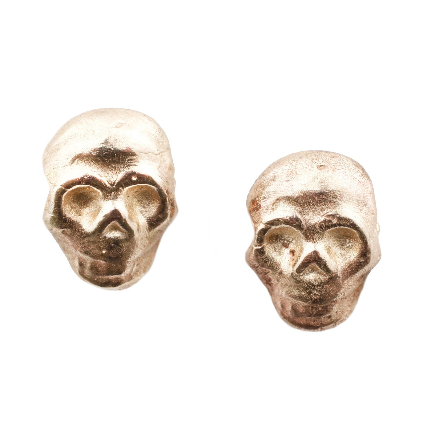 Diego Gold Skull Studs