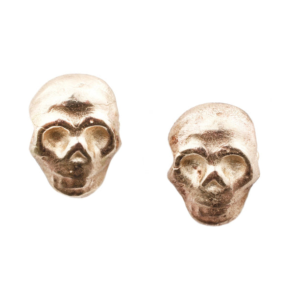 Adeline Diego Gold Skull Stud Earrings